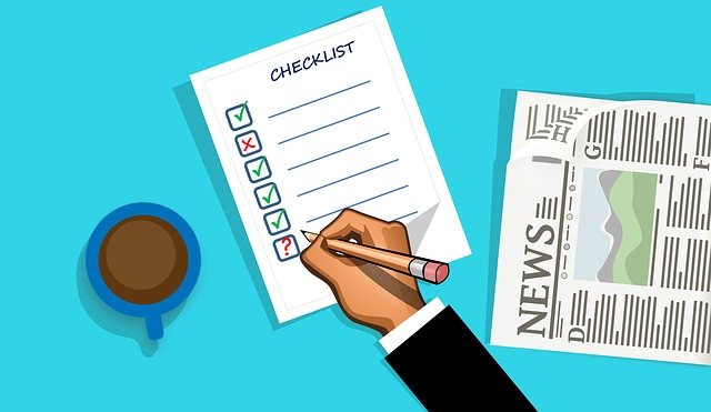 News paper and checklist