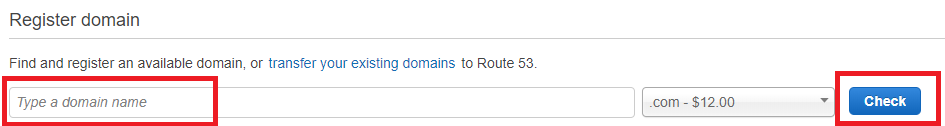 Register a domain in AWS Route 53