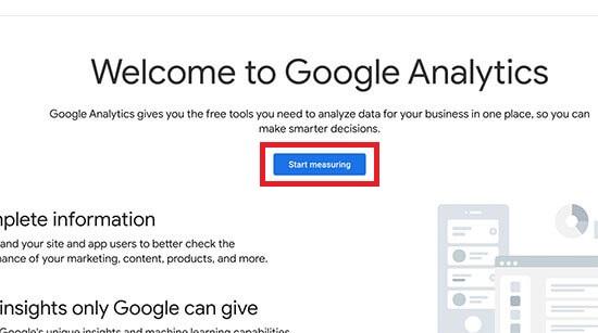 Start Measuring Google Analytics