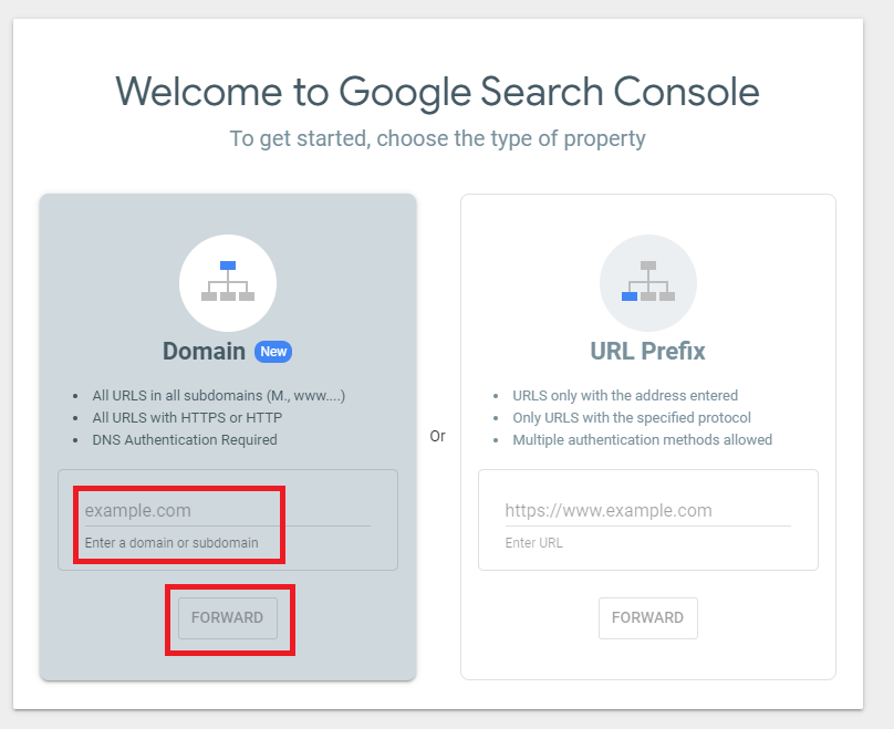 Search Console Domain Name