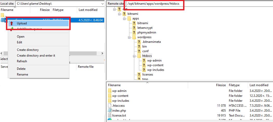 Upload File To FileZilla
