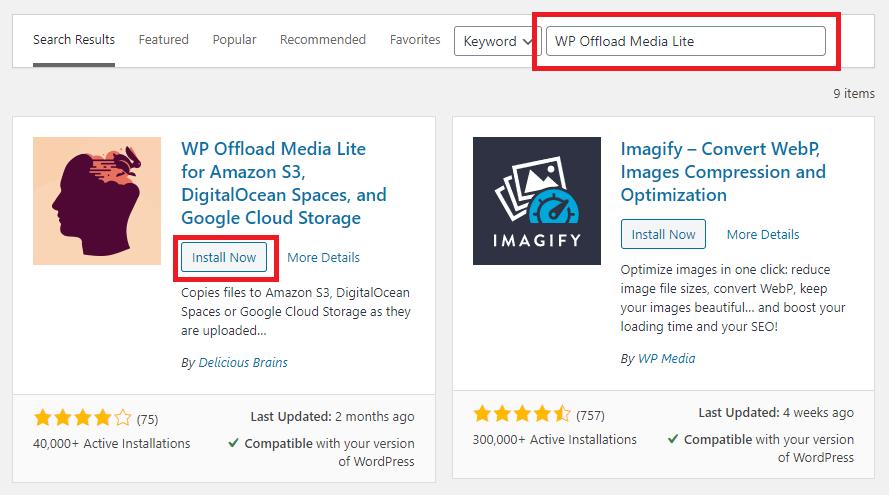Offload Media Plugin
